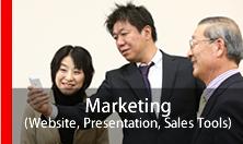 マーケティングホームページ・プレゼンテーション営業ツール